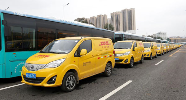 BYD T3 to DHL China