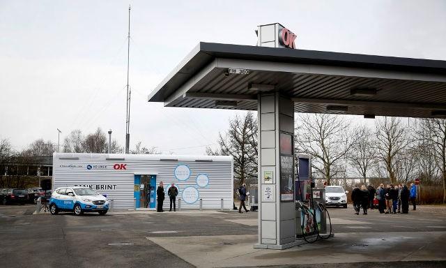 OK Benzin. Indvielse af Danmarks nyeste brinttankstation i Kolding.