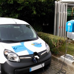 Coches eléctricos para servicio sanitario con energía 100% renovable de IBIL en Bizkaia