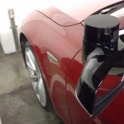 Pillado una unidad de pruebas del Tesla Model S con un sistema de conducción autónoma