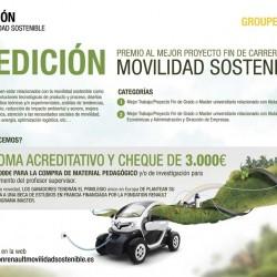 Renault convoca la 5ª edición del Premio al mejor proyecto fin de carrera sobre movilidad sostenible