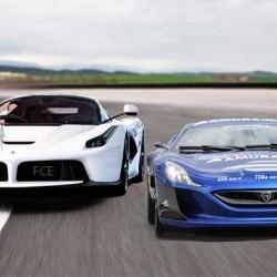 Rimac Concept One contra Ferrari LaFerrari