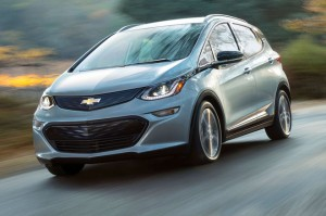 2017-Chevrolet-Bolt-EV-front-view-on-road