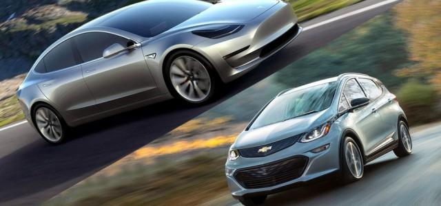 Para JP Morgan, competidores como el Chevrolet Bolt pueden ser un riesgo para el Tesla Model 3