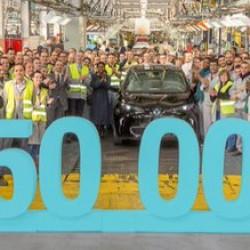 Renault entrega las llaves de la unidad 50.000 del ZOE