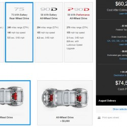 Tesla vuelve a cambiar la oferta del Model S. Nueva versión de 75 kWh