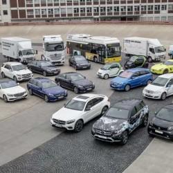 Daimler presenta un plan para electrificar su gama. Eléctricos, híbridos enchufables, hidrógeno…