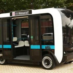Un autobús eléctrico, autónomo y fabricado con una impresora 3D
