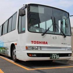 Toshiba pone en marcha en Japón un autobús eléctrico con recarga inalámbrica