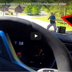 Poniendo a prueba el sistema de alerta de colisión en un Tesla Model S