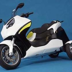 VMS Automotive presenta una moto eléctrica de tres ruedas y cuerpo basculante
