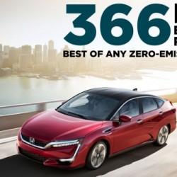 El Honda Clarity Fuel Cell logra el récord de autonomía de un coche cero emisiones. 589 kilómetros ciclo EPA
