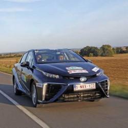 E-Rally de Montecarlo 2016. El Toyota Mirai se lleva la victoria en la general