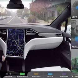 Un vídeo nos muestra que ve el sistema de conducción autónoma de Tesla