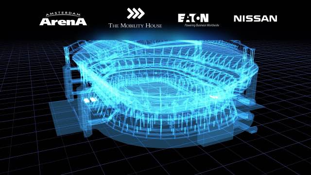 Nissan, Eaton and The Mobility House power up Amsterdam Arena