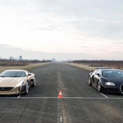 Rimac Concept_One contra Bugatti Veyron. Dos monstruos que se enfrentan en el circuito