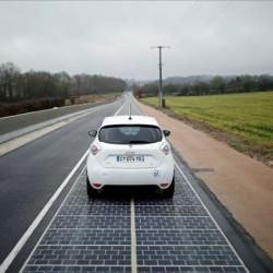 Francia instala el primer kilómetro de la carretera solar