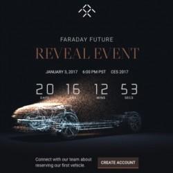 Faraday Future pone en marcha una original cuenta atrás para la presentación de su primer modelo