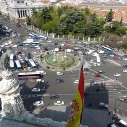 Las matrículas pares no podrán circular mañana por Madrid por primera vez en España. Los coches eléctricos, exentos