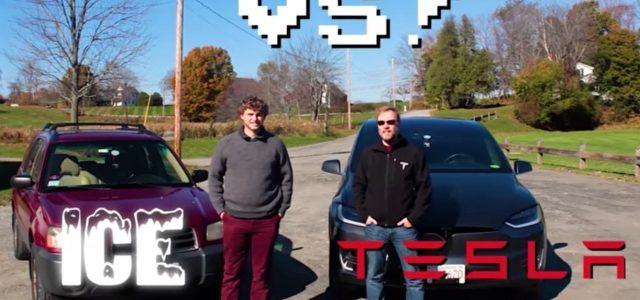 La diferencia entre conducir, y frenar, un coche eléctrico contra un modelo convencional (vídeo)