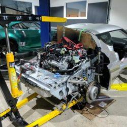 Un Lotus Evora con el sistema de propulsión de un Tesla Model S, y dos baterías del Chevrolet Volt