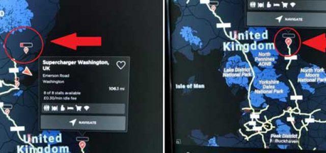 Tesla ya ofrece en tiempo real la disponibilidad de los Supercargadores
