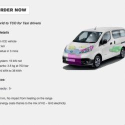 Symbio pone a la venta una versión de la Nissan e-NV200 con baterías de hasta 36 kWh, y extensor de autonomía a hidrógeno