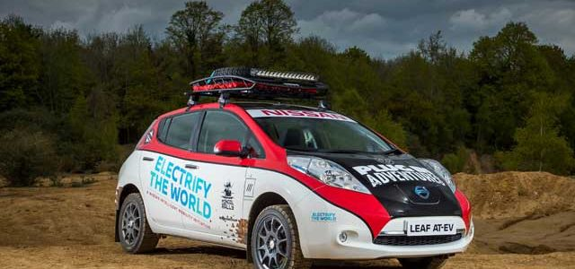 Nissan LEAF AT-EV: Plug In Adventures participará en el Rally de Mongolia con un LEAF modificado