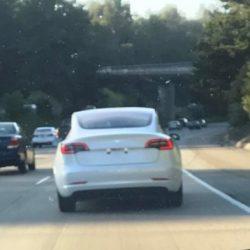 Avistada una nueva unidad del Tesla Model 3 realizando unas pruebas, incluyendo una foto del interior