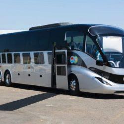 Gaffoglio lanza un prototipo de un autobús eléctrico de 42 plazas de primera clase. 400 kilómetros de autonomía, fibra de carbono y un diseño diferente