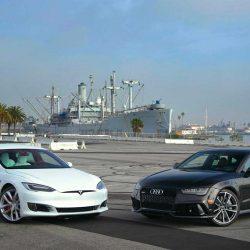 Cara a cara. Tesla Model S P100D contra Audi RS7