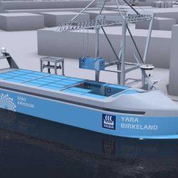 Noruega pondrá en marcha en 2018 el primer barco de carga eléctrico y autónomo. Batería de 4 MWh!!!