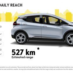 Una calculadora online para saber la autonomía del Opel Ampera-e bajo diferentes temperaturas