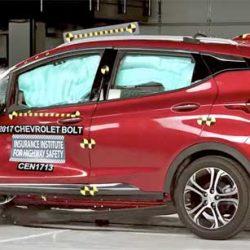El Chevrolet Bolt, Opel Ampera-e en Europa, logra la máxima puntuación en las pruebas de choque de Estados Unidos