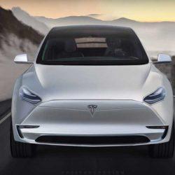 Render del Tesla Model Y a partir de la primera imagen publicada