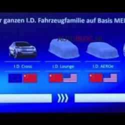 Una filtración muestra que Vokswagen trabaja en dos nuevos coches eléctricos. El ID Lounge, y el ID AEROe