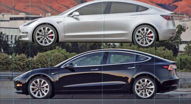 Tesla Model 3: versión de producción vs prototipo pre-alfa