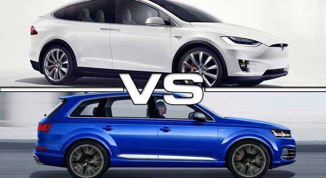 Prueba de aceleración. Tesla Model X 100D contra Audi SQ7