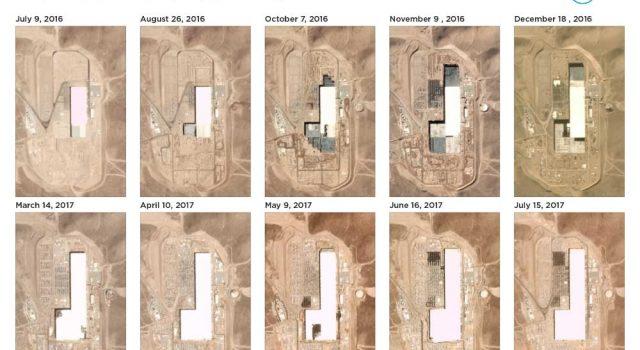 Vídeo de la evolución de la Gigafábrica de baterías de Tesla desde el espacio. Unos 1.500 packs para el Model 3 ensamblados hasta principios de julio