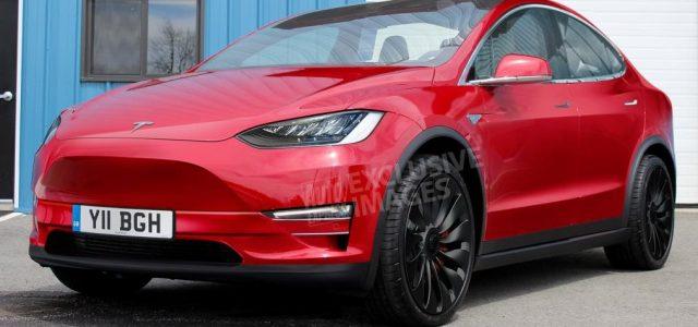 Render del Tesla Model Y usando la actual plataforma del Model 3