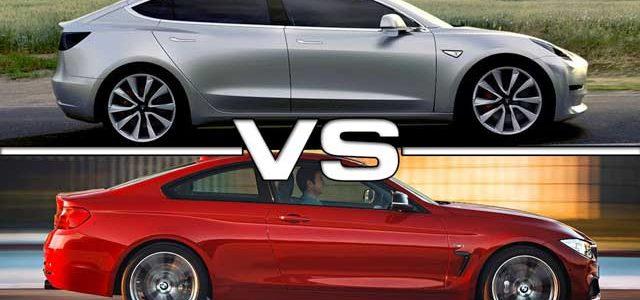 Comparativa Tesla Model 3 contra BMW Serie 3