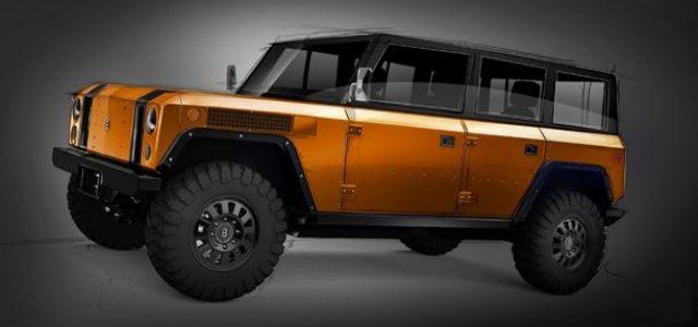 Bollinger Motors muestra el boceto de una posible versión de 4 puertas para su 4×4 eléctrico