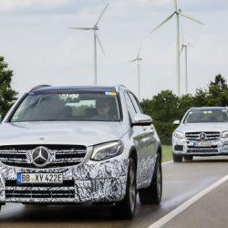 Últimas pruebas antes de la presentación en Frankfurt del Mercedes GLC F-Cell. El primer híbrido enchufable y a hidrógeno que llegará este año