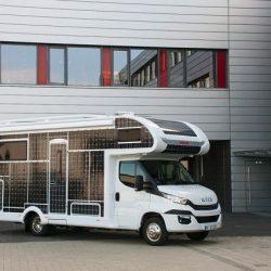 Autocaravana eléctrica de Dethleffs con 31 metros cuadrados de paneles solares