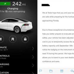 Tesla aumenta de forma gratuita la capacidad de la batería de los Model S y X que escapan del huracán Irma en Florida