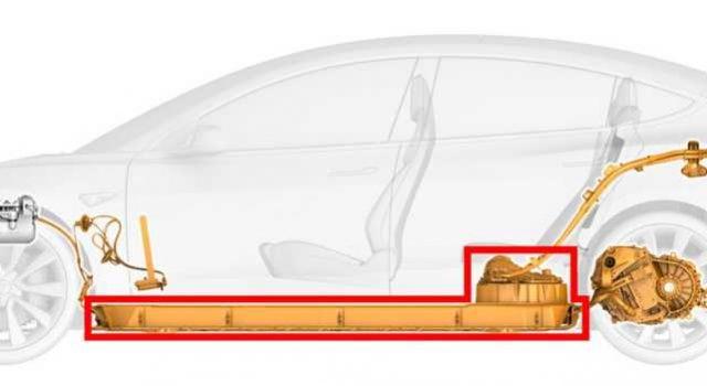 Tesla nos muestra el diseño de la plataforma y estructura del Model 3