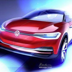 Nuevo render del Volkswagen ID Crozz. Pistas de como será el diseño final del todocamino eléctrico