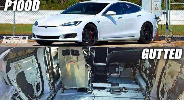 ¿Qué pasa si a un Tesla Model S P100D le quitas 220 kilos? Que tienes un monstruo de la aceleración