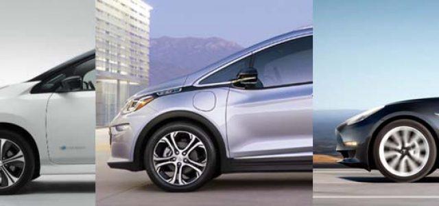 Encuesta. ¿Quién dominará el mercado estadounidense en 2018? Tesla Model 3, Nissan LEAF o el Chevrolet Bolt