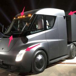 Las cámaras y sensores que utilizará el camión de Tesla para conducir de forma semi-autónoma